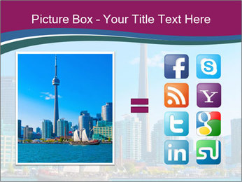 Toronto cityscape from Central Island PowerPoint Templates - Slide 21