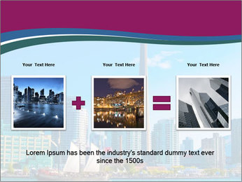 Toronto cityscape from Central Island PowerPoint Templates - Slide 22