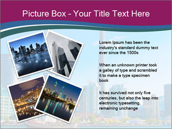 Toronto cityscape from Central Island PowerPoint Templates - Slide 23