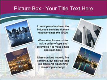 Toronto cityscape from Central Island PowerPoint Templates - Slide 24