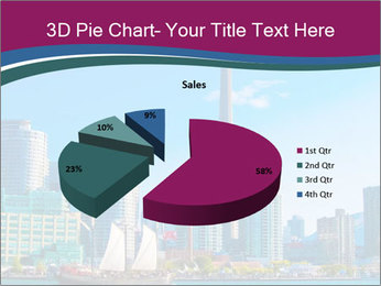 Toronto cityscape from Central Island PowerPoint Templates - Slide 35