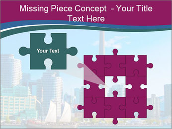 Toronto cityscape from Central Island PowerPoint Templates - Slide 45