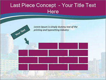 Toronto cityscape from Central Island PowerPoint Templates - Slide 46