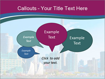 Toronto cityscape from Central Island PowerPoint Templates - Slide 73