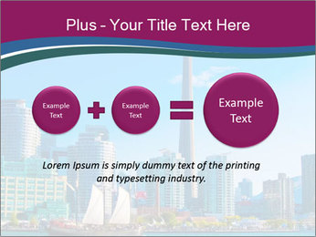 Toronto cityscape from Central Island PowerPoint Templates - Slide 75