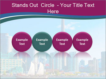 Toronto cityscape from Central Island PowerPoint Templates - Slide 76