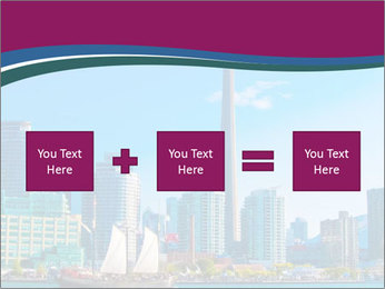 Toronto cityscape from Central Island PowerPoint Templates - Slide 95