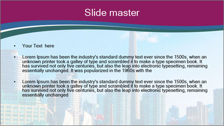 Toronto cityscape from Central Island PowerPoint Template - Slide 2