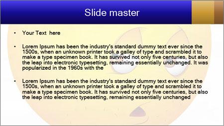 Smiley Illustration PowerPoint Template - Slide 2
