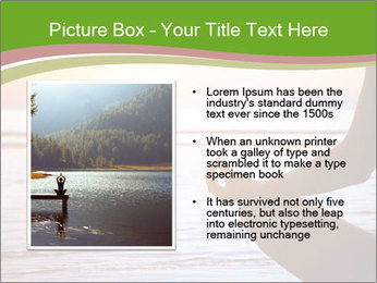 Serenity and yoga practicing at sunset PowerPoint Template - Slide 13