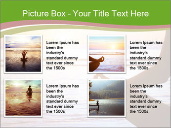 Serenity and yoga practicing at sunset PowerPoint Template - Slide 14