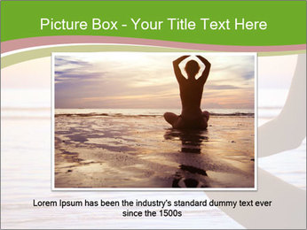 Serenity and yoga practicing at sunset PowerPoint Template - Slide 15