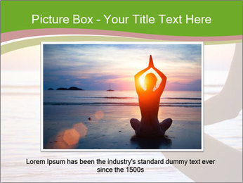 Serenity and yoga practicing at sunset PowerPoint Template - Slide 16