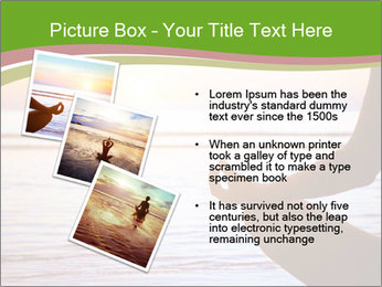 Serenity and yoga practicing at sunset PowerPoint Template - Slide 17