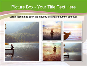 Serenity and yoga practicing at sunset PowerPoint Template - Slide 19