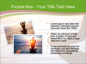 Serenity and yoga practicing at sunset PowerPoint Template - Slide 20