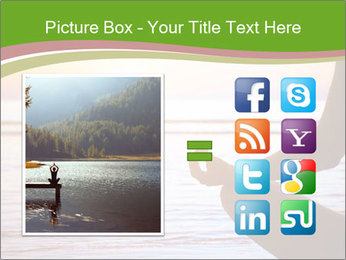 Serenity and yoga practicing at sunset PowerPoint Template - Slide 21