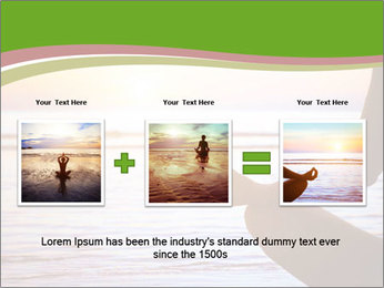 Serenity and yoga practicing at sunset PowerPoint Template - Slide 22