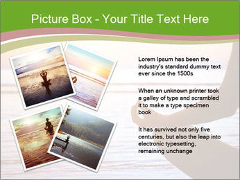 Serenity and yoga practicing at sunset PowerPoint Template - Slide 23