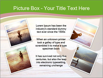 Serenity and yoga practicing at sunset PowerPoint Template - Slide 24