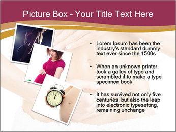 Pregnant woman stroking her belly PowerPoint Templates - Slide 17