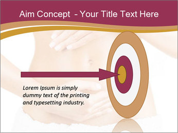 Pregnant woman stroking her belly PowerPoint Templates - Slide 83