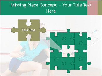 Two women playing PowerPoint Templates - Slide 45