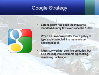View from Bukovel ski PowerPoint Templates - Slide 10