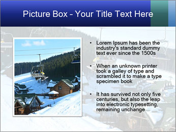 View from Bukovel ski PowerPoint Templates - Slide 13