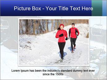 View from Bukovel ski PowerPoint Templates - Slide 16