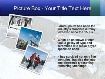 View from Bukovel ski PowerPoint Templates - Slide 17