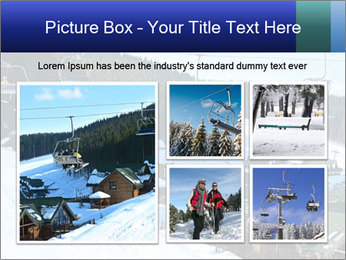 View from Bukovel ski PowerPoint Templates - Slide 19