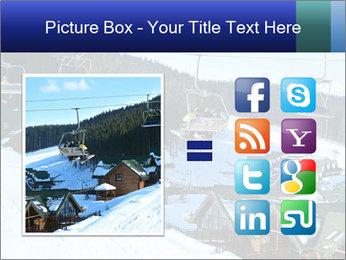 View from Bukovel ski PowerPoint Templates - Slide 21