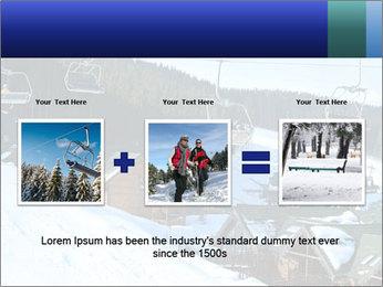 View from Bukovel ski PowerPoint Templates - Slide 22