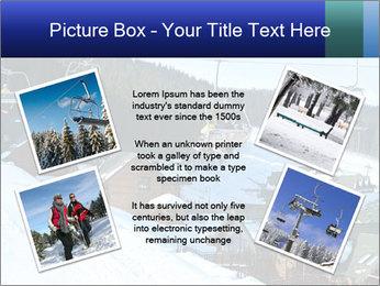 View from Bukovel ski PowerPoint Templates - Slide 24