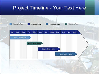 View from Bukovel ski PowerPoint Templates - Slide 25