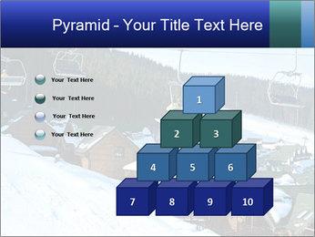 View from Bukovel ski PowerPoint Templates - Slide 31