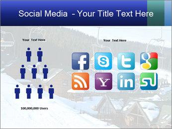 View from Bukovel ski PowerPoint Templates - Slide 5
