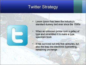 View from Bukovel ski PowerPoint Templates - Slide 9