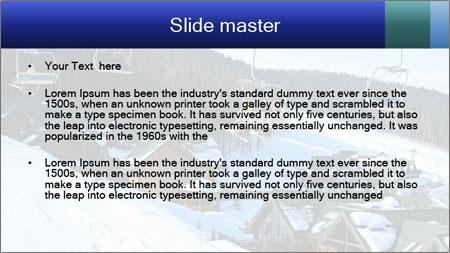 View from Bukovel ski PowerPoint Template - Slide 2