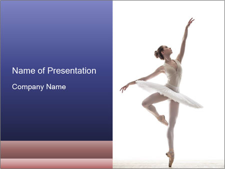 Young beautiful dancer PowerPoint Templates