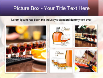 Bartender pours alcoholic drink PowerPoint Templates - Slide 19