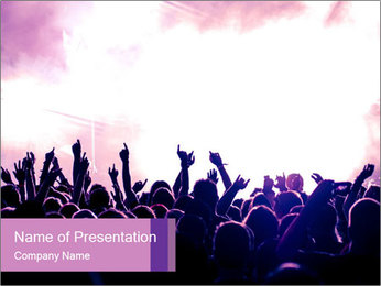 Cheering crowd PowerPoint Templates - Slide 1