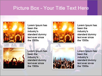Cheering crowd PowerPoint Templates - Slide 14
