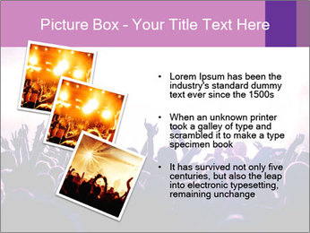 Cheering crowd PowerPoint Templates - Slide 17