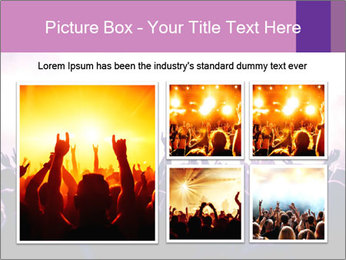 Cheering crowd PowerPoint Templates - Slide 19