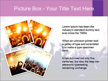 Cheering crowd PowerPoint Templates - Slide 23
