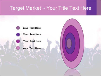 Cheering crowd PowerPoint Templates - Slide 84
