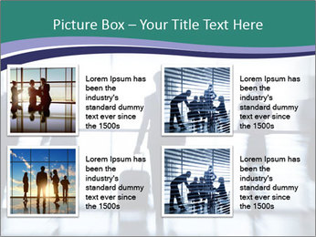 Several silhouettes PowerPoint Template - Slide 14