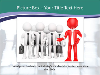 Several silhouettes PowerPoint Template - Slide 15